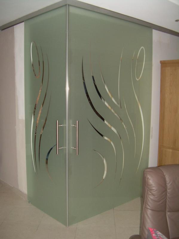 Portes coulissantes salle de bain meuble double de salle - Porte coulissante en verre pas cher ...